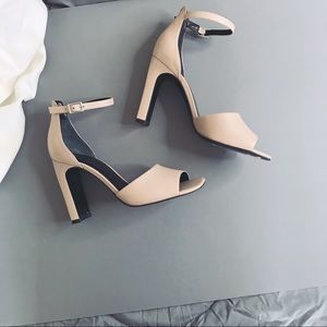 Marc Fisher • Nude Open Toe D'Orsay Heels